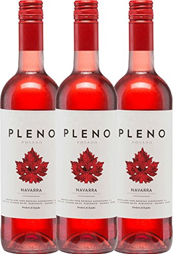 3er-Paket-Pleno-Rosado-DO-2017-Bodegas-Agronavarra-trockener-Roswein-spanischer-Wein-aus-Aragonien-3-x-075-Liter
