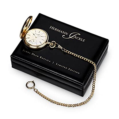 Hermann-Jckle-James-Dean-Replica-Limited-Edition-Taschenuhr-mit-Handaufzug-incl-Kette-Box