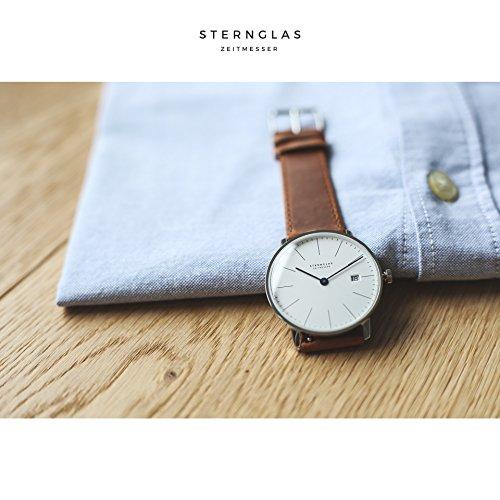 STERNGLAS-Bauhaus-Uhr-mit-Anti-Reflex-Saphirglas-Schnellwechselband-RONDA-Uhrwerk-KICKSTARTER-Minimalistische-Armbanduhr-Herrenuhr-491-Bewertung-auf-Trusted-Shops