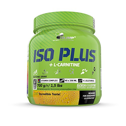 Olimp Iso Plus + L-Carnitine | Isotonic Sports Drink | Kohlenhydrat-Präparate | Orange Geschmack | 700 g
