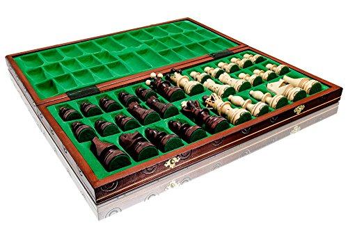 Absolut-erstaunlich-Botschafter-DE-LUX-54x54cm-dekorative-hlzerne-Schach-gesetzt-100-Handarbeit