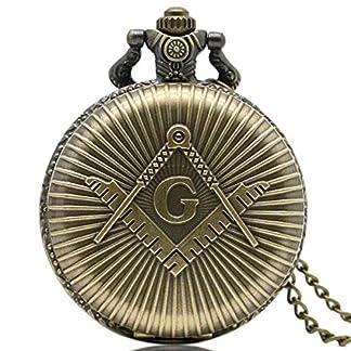 xigeya-Retro-Bronze-Quarz-Maurer-Freimaurerei-Taschenuhr-Classic-G-Schlsselanhnger-Anhnger-Uhren-mit-Vintage-Kette-mit-Geschenkverpackung
