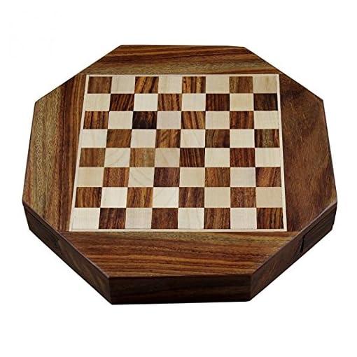 Zap-Impex–Holz-Magnetic-octangle-Form-Schachfiguren-Set-und-Holzbrett-Reisen-Spiele-Schach-9-Zoll