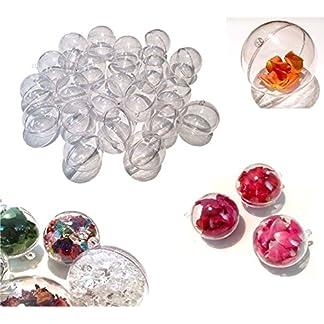 CRYSTAL-KING-25-Stck-Acryl-Kugeln-6-cm-Bastel-Kugeln-Acrylkugel-transparent-teilbar-durchsichtig-Kunstoff-Kugel-Acryl-Acrylic-ball-Acrylkugeln-60mm