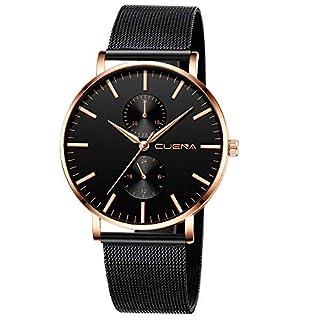 Armbanduhr-herren-Liusdh-Uhren-Neutrale-minimalistische-ultradnne-schwarze-Unisex-Armbanduhr-mit-mattem-Zifferblatt-und-Mesh-Band-uhr