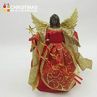 The-Christmas-Workshop-Christbaumspitze-Engel-30-cm-Rotgoldfarben