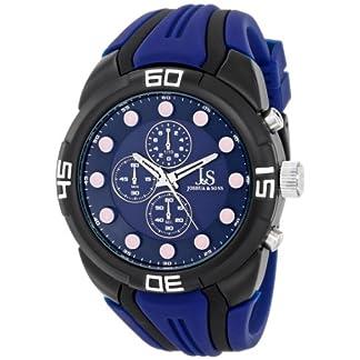 Joshua-Sons-Herren-Armbanduhr-analoges-Zifferblatt-Quarz-Uhrwerk-Silikon-Armband