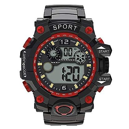 Godagoda-Kinder-Digitale-Armbanduhr-Wasserdichte-Schwimmen-Outdoor-Sports-Leuchtendes-Groes-ZifferblattRot
