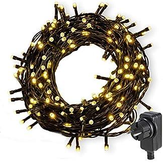 Nurkoo-Led-Lichterkette-Strom-30M-300-LED-Lichterkette-Steckdose-IP65-Wasserdicht-fr-Innen-und-Auen-8-Modi-DimmbarNiederspannung-Warmwei-Lichterkette-fr-Party-Weihnachten-Garten