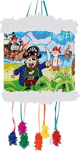 Pinata-KINDERPIRATEN-als-Zugpinata-fr-bis-zu-7-Kinder-plus-Maske-Wird-mit-Sssigkeiten-oder-Spielen-gefllt-ca-28cm-Durchmesser-Piraten-Piata-Mexiko-Kinder-Geburtstag-Kindergeburtstag-Spiele-Spass