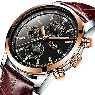 Herren-uhren-Wasserdicht-Sport-Chronograph-Datum-Analog-Quarzuhr-Mnner-Luxusmarke-LIGE-Mode-Geschft-Braun-Leder-Herren-Armbanduhr-
