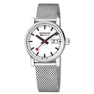 Mondaine-Damen-Datum-klassisch-Quarz-Uhr-mit-Edelstahl-Armband-MSE30210SM