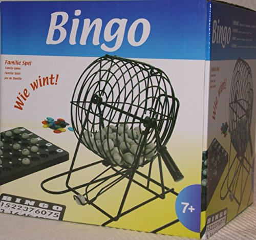 Bingo-Spiel-Set-Metall-Bingotrommel-Bingo-Mhle-Lotto-Trommel-Tombola-Auslosung