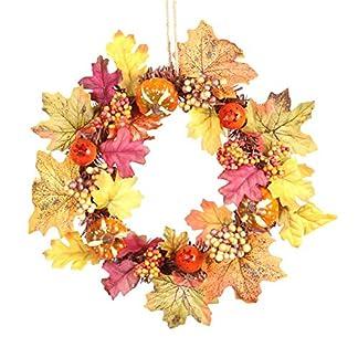 Fancylande-Weihnachten-Kranz-Trdekoration-Zum-Aufhngen-Krbis-Ahornblatt-Herbstgirlande-Weihnachtsbaum-Deko-Perfekte-Fr-Halloween-Thanksgiving-Supplies-35cm