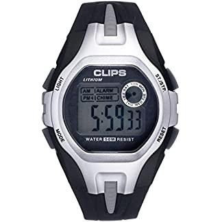 Clips-Herren-Armbanduhr-Digital-Quarz-Kautschuk-539-6001-84