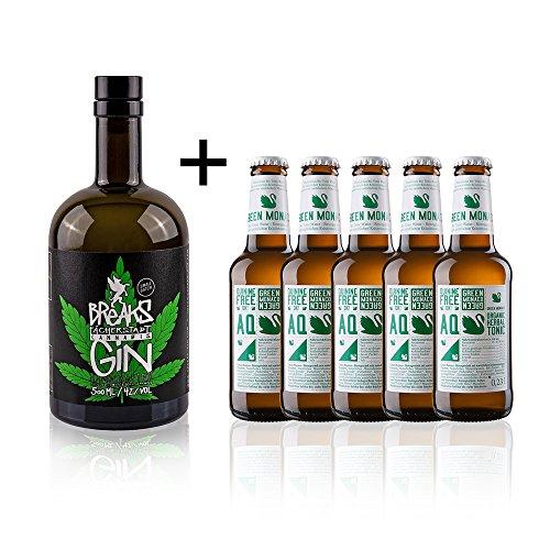 BReAKS-Cannabis-Dry-GIN-Genieer-Set-mit-5-Flaschen-Tonic-Water-05-l-5-x-02-l