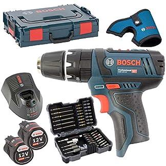 Bosch-Akku-Bohrschrauber-GSB-108-2-Li-2-Akkus-20AH-und-Ladegert-AL1130CV-in-L-BOXX-Gr-1-mit-Einlage-MIT-HOLSTER-inkl-Bosch-Bitsortiment-43-tlg-inkl-SW-6810
