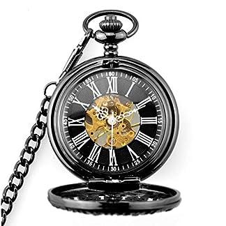 Taschenuhr-Mechanische-Taschenuhr-und-Kette-fr-Herren-Steampunk-Retro-Vintage-Taschenuhr-fr-Damen-Herren