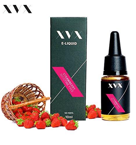 XVX E Liquid  Erdbeer VG Geschmack  Flüssigkeit für Elektronische E-Zigarette  Liquid für Elektronische Shisha  10ml Flasche  Nadelspitze  Präzisionseinspritzung  Wählen Sie Ihren Lifestyle  Digitales Rauchen  Nikotin frei  Tabak frei