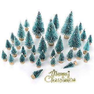 LouisaYork-Miniatur-Weihnachtsbaum-Mini-Tischbaum-34-Stck-Mini-Sisal-Schnee-Frost-Baum-Mikrolandschaft-fr-Weihnachten-Basteln-Tischdekoration
