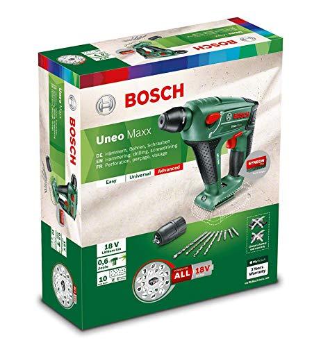 Bosch-DIY-Akku-Bohrhammer-UneoMaxx-Ladegert-Rundschaftadapte-18-V-25-Ah-10-mm-Bohr–Beton