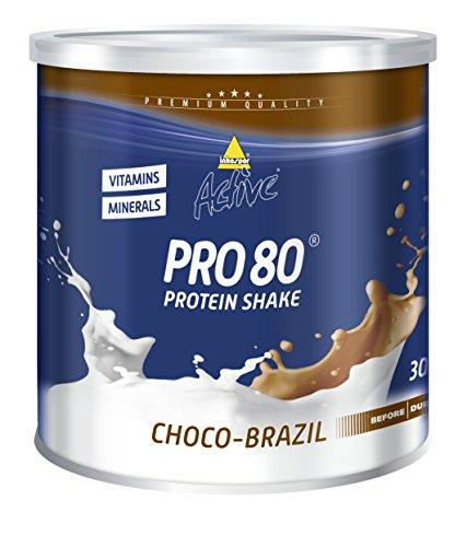 Inkospor Active Pro 80 Protein Shake, Choco-Brazil, 750g Dose
