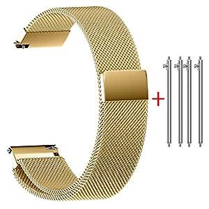 Rameng-Uhrenarmband-2220181614mm-Magnetverschluss-mit-Schnalle-Milanaise-Edelstahl-fr-Smartwatch-und-klassische-Armbanduhren
