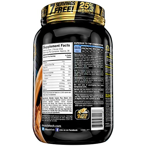 Muscletech Performance Series Nitro Tech Casein Gold, Chocolate Supreme, 1152 g