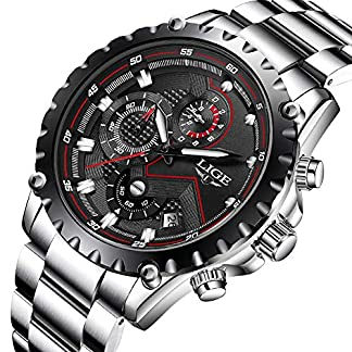 Herren-Wasserdichte-Sport-Uhren-Herren-Luxusmarke-LIGE-Business-Mode-Analog-Quarzuhr-Herren-Volle-Stahl-Schwarz-Armbanduhr