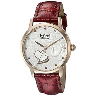 Burgi-Damen-Knstler-rund-drei-Hand-Quarz-Edelstahl-Armbanduhr