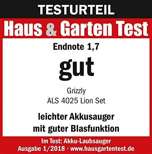Grizzly-Akku-Laubsauger-Laubblser-Hcksler-als-4025-Lion-4-in-1-Funktion-inkl-Fangsack-40-Volt-Akku-25-AH-125-h-Ladegert-40-V-Akkusystem