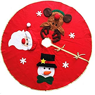 Whiie891203-WeihnachtsdekoBaumrock-Weihnachtsmann-Rentier-Teppich-Rock-Carpet-Boden-Matte-Weihnachtsbaum-Decke-Deko-Christbaumstnder-Boden-Home-Hotel-Party-Dekorationen-Ornamente