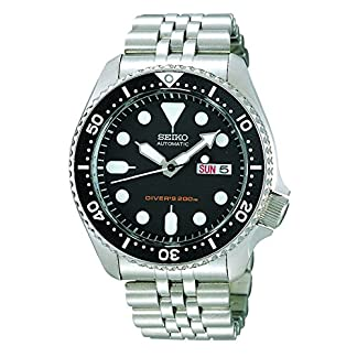 Seiko-Herren-Armbanduhr-Analog-Automatik-Edelstahl-SKX007K2