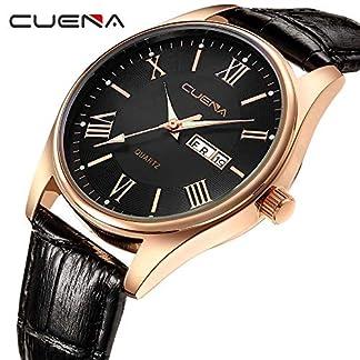 Armbanduhr-Men-Liusdh-Uhren-Sport-Ledergrtel-Quarz-mit-Datum-Business-Sportuhr