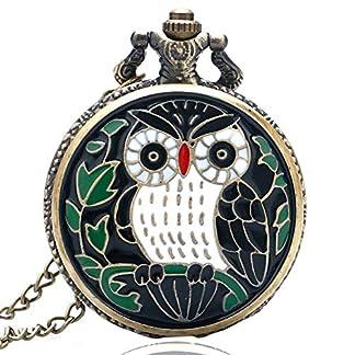 Herren-Taschenuhr-Cartoon-Eule-Taschenuhr-Halskette-mit-Kette-Geschenk-fr-Herren