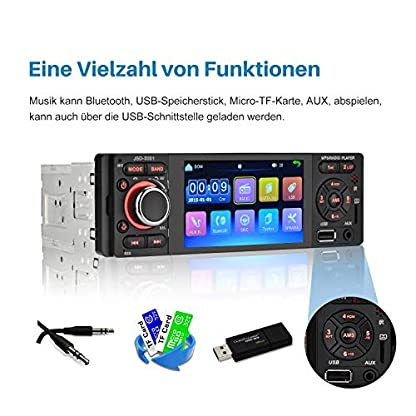 Touchscreen-Autoradio-Bluetooth-MP5-MEKUULA-USBReceiver-mit-Audio-EmpfngerMP5-PlayerUKWFM-Radio-fr-SamsungiPhone-USBTFAUX-Freisprechfunktion-und-integriertes-Mikrofon-PKW-Radio