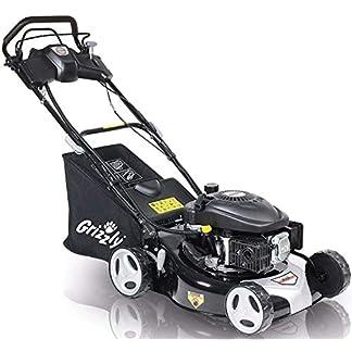 Grizzly-Benzin-Rasenmher-Elektrostart-auf-Knopfdruck-Selbstantrieb-46-cm-Schnittbreite-Stahlgehuse-4-Takt-OHV-Motor