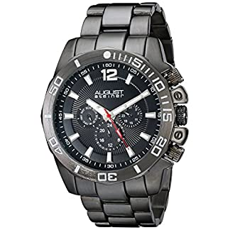 August-steiner-Herren-Armbanduhr-Man-AS8113BK-Analog-Quarz-AS8113BK