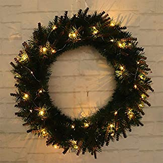 ZXPAG-Weihnachten-Tukranz-We-Batteriebetrieben-Gelbes-Warmes-Kopflicht-ohne-Batterie-fr-Tr-und-Fenster-auen-Deko-Wandkranz-Kranz-Girlande