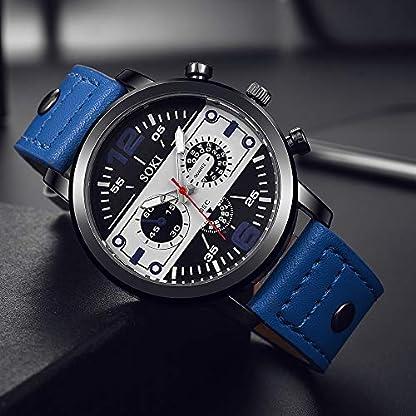 analog-uhren-herren-Drei-Augen-Sechs-Pin-Paar-Mode-Mattgrtel-Uhr-Analog-Quarz-Runde-Persnlichkeit-arabische-Digitaluhr