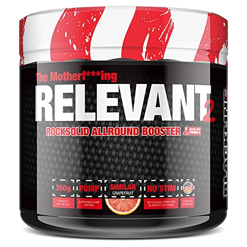 BlackLine 2.0 The Relevant V2 NEW VERSION Pre-Workout Booster Trainingsbooster Bodybuilding 350g Grapefruit