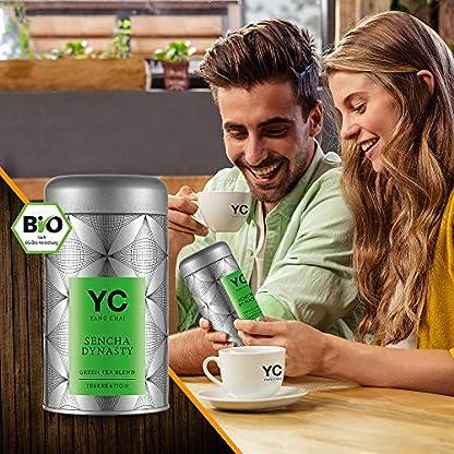 Bio-Sencha-Grntee-Sencha-Dynasty-Premium-lose-Bltter-Grner-tee-Green-Tea-von-YANG-CHAI-Mit-Einzigartigem-Aroma-Und-Einem-Hauch-Erfrischender-Zitrone-das-ideale-Tee-Geschenk-fr-Teeliebhaber-in-stabiler