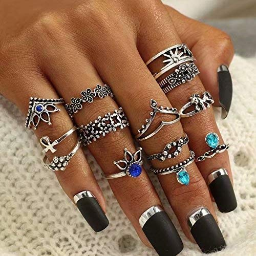 Doyime Ring Set Damen Boho Ringe Finger Tip Ring Schmuck