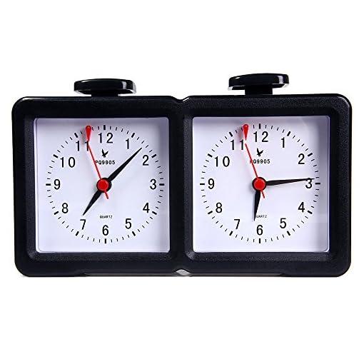 Schachuhr-Quarz-Batterie-Betriebene-Analoge-Chess-Clock-Timer-I-go-Up-Count-down-timer-Fr-Wettbewerb