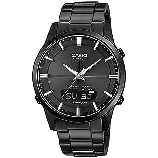 Casio-Wave-Ceptor-Herrenarmbanduhr-Solar-und-Funkuhr-Saphirglas-massives-Edelstahlgehuse-und-Armband