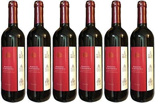 PRIMITIVO-Di-Manduria-DOC-6-x-075-L-trockener-Rotwein-145-Vol-Italien