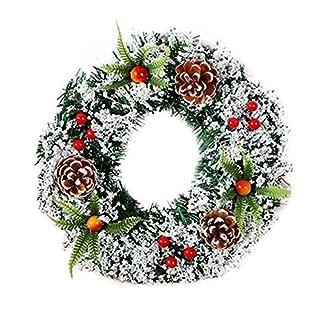 ZXPAG-Kinstlicher-Kranz-Weihnachten-Handgemachte-Knstliche-Christbaumschmuck-PVC-fr-Deko-Weihnachten-Advent-Trkranz