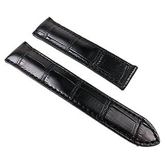 Maurice-Lacroix-Louisiana-Ersatzband-Kroko-Leder-fr-Pontos-Klemmschliee-schwarz-22283K-Stegbreite22mm