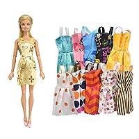 Naisicatar-20pcs-Set-Kinder-Spielzeug-Schuhe-Kleider-fr-Barbie-Puppe-mit-10-Stck-Kleid-Partei-Kleid-und-10-Paar-Schuhe-Mdchen-Weihnachten-Geburtstag-Geschenk-Farbe-Random