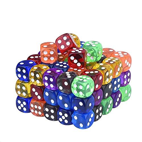 Blulu-100-Stck-Transluzente-Farben-6-Seitige-Spiele-Wrfel-Set-16-mm-Runde-Ecke-Wrfel-fr-Spielen-Spielzeug-Geschenke-oder-Unterricht-Kinder-Mathe